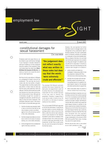 employment law ensight - march 2007 (pdf)