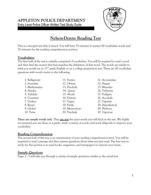 Nelson-Denny Reading Test