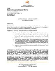 OSCE Supplementary Human Dimension Meeting ... - pekem.org
