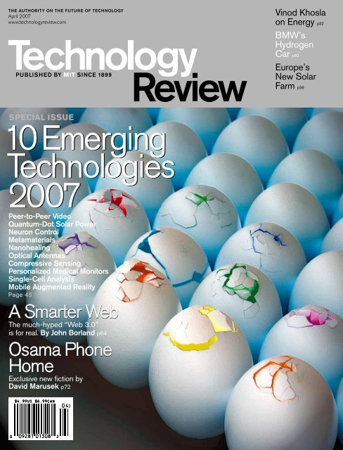 Technology Review - April 2007 on