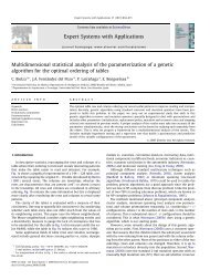 Multidimensional statistical analysis of the parameterization of a ...