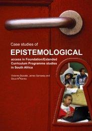 Case Studies of Epistemological access in Foundation - Cape ...
