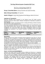 Norovirus Outbreak Report 2011/12 - The Royal Wolverhampton ...