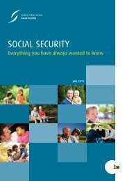social security - FOD Sociale Zekerheid