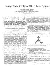 Concept Design for Hybrid Vehicle Power Systems