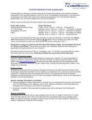 Poster Presentation Guidelines - American Diabetes Association