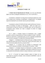 PORTARIA Nº 113/2009 – DG O Diretor Geral do Departamento de ...