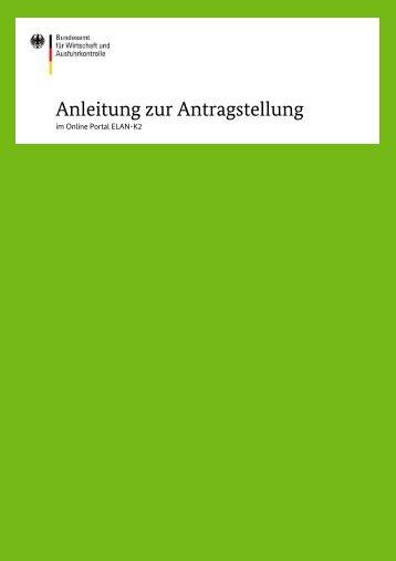 Anleitung zur Antragstellung - Bafa