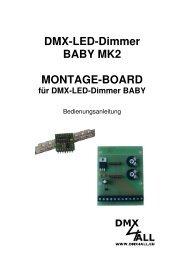 DMX-LED-Dimmer BABY MK2 MONTAGE-BOARD - DMX4ALL GmbH