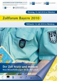 Flyer Zollforum 2010 - Außenwirtschaftszentrum Bayern