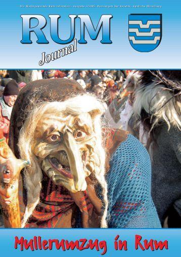 Rum-Journal 2005/1 (6 MB) (0 bytes - Marktgemeinde Rum - Land ...