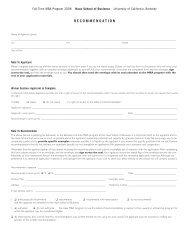 HAS-mba application07 - Full-time MBA Program, Haas School of ...