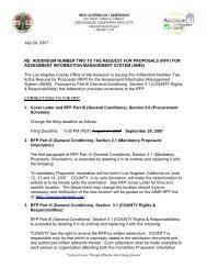 RFP - Addendum 2 - Los Angeles County Assessor