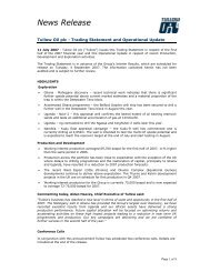 Trading statement and operational update PDF - Tullow Oil plc