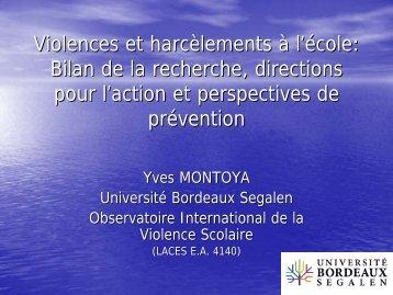 Violences à l'école et mutations du système éducatif français : vers ...