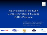 An evaluation of the competency based training program