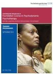 D58 Course Outline_2013.pdf - Tavistock and Portman
