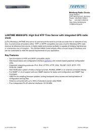 LANTIME M600/GPS: High End NTP Time Server ... - TR instruments