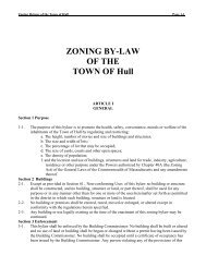 ZONING BY-LAW - Town of Hull