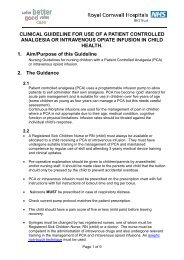 Nursing Guidelines For Use Of Patient Controlled Analgesia or ...
