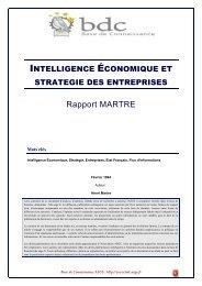 Intelligence économique et stratégie des entreprises - Base de ...