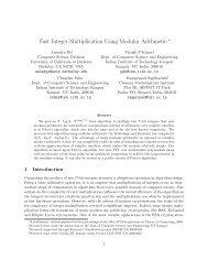 Fast Integer Multiplication Using Modular Arithmetic - Indian Institute ...