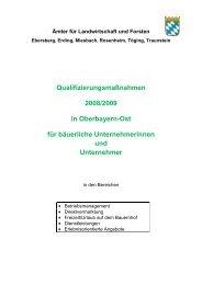 Qualifizierungsmaßnahmen - Amt für Ernährung, Landwirtschaft und ...