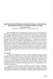 desarrollo de competencias en un entorno virtual. el practicum de ...