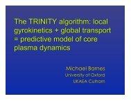 The TRINITY algorithm - University of Oxford