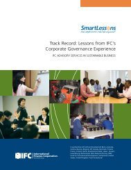 Track Record: Lessons from IFC's Corporate Governance Experience