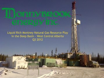 Liquid Rich Montney Natural Gas Resource Play In the Deep Basin ...