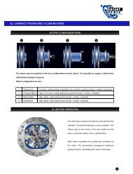 X L C O M PACT PISTON MULTI-CAM MOTO R S - Fluid Power