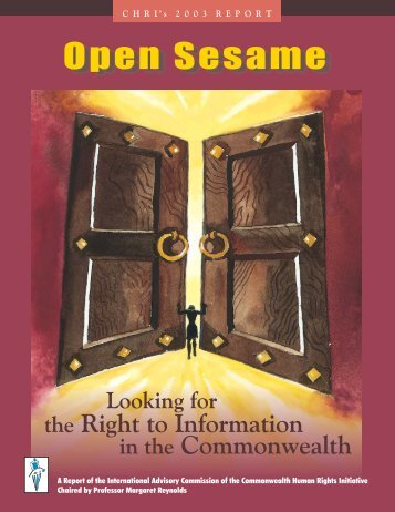 Open Sesame - Commonwealth Human Rights Initiative