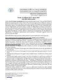 Seduta del 1° marzo 2012 - Università della Valle d'Aosta