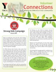 Strong Kids Campaign - YMCA of Greater Toronto