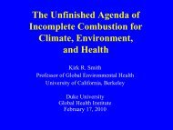 Health Impacts of Indoor Air Pollution - Environmental Health ...