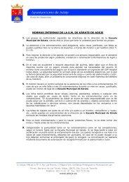 normas internas de la em de kárate de adeje - Ayuntamiento de Adeje