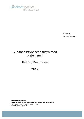 Nyborg Kommune - Sundhedsstyrelsen