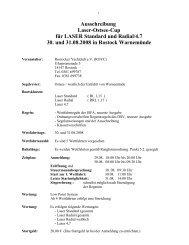 Ausschreibung Laser-Ostsee-Cup für LASER Standard und Radial ...