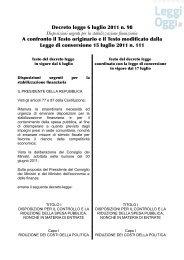 Decreto legge 6 luglio 2011 n. 98 Disposizioni urgenti per ... - Codau