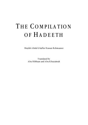 Compilation Hadeeth - Kalamullah.Com