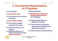 2. Time-Domain Representations of LTI Systems