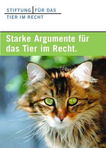 Vorstellungsbroschüre der Stiftung für das Tier im ... - Tierschutz.org