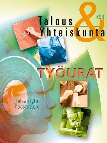 Talous & Yhteiskunta 1/2010 - Palkansaajien tutkimuslaitos