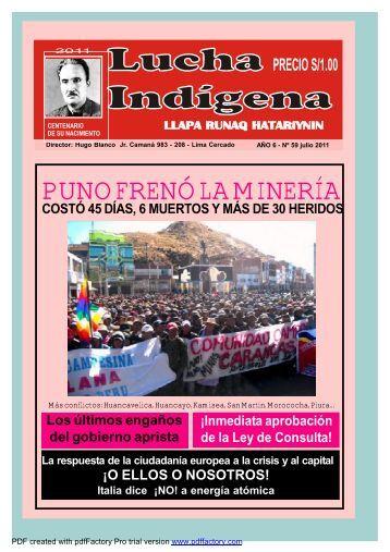 Lucha Indígena No. 59 PDF