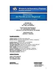 Panama-Informe de Actividades (metas y logros, febrero 2013)