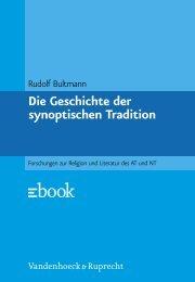 Die Geschichte der synoptischen Tradition