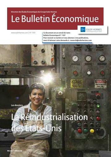 Dossier spécial : Réindustrialisation des Etats-Unis - Euler Hermes