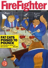 FAT CATS POISED TO POUNCE - Fire Brigades Union