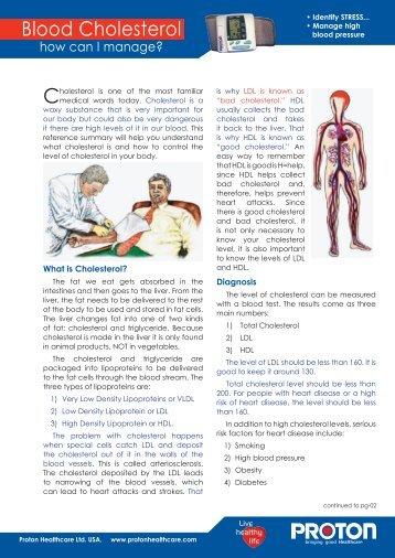 Blood Cholesterol - PROTON Healthcare